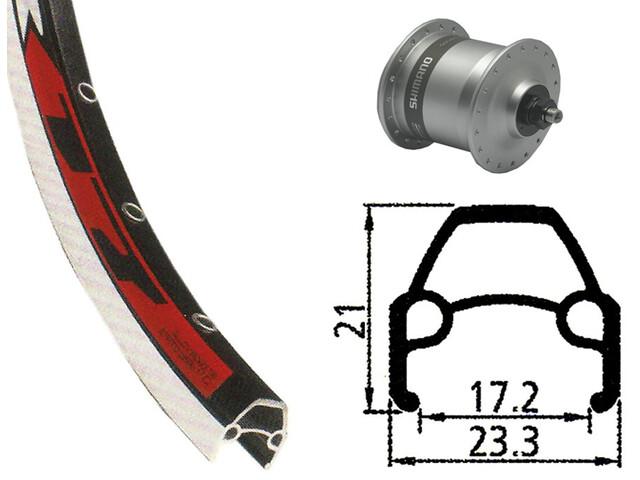 Rodi VR17 Ruota anteriore Ruota anteriore 622-17 36L con DH-3N80 dinamo, silver